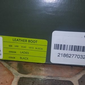 Black Leather 'Gelert' Boots size 10